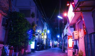 Night view of Ryugu Street
