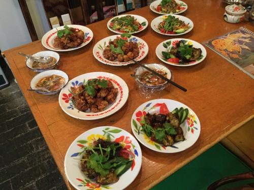 会場の「ぷあん」は、僕の好きな料理を中心にいろいろ作ってくれます。感謝!