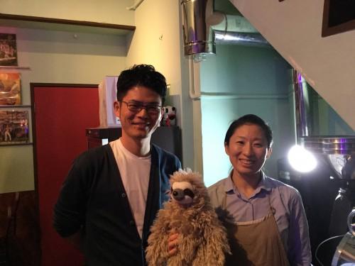 終了後に、美智乃さんと記念撮影。スロースちゃんも間に入ってくれました