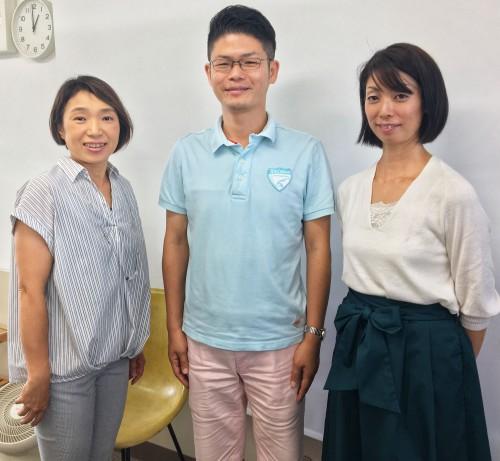 田中先生(左)と綾子先生と一緒に記念写真。またご一緒しましょう!