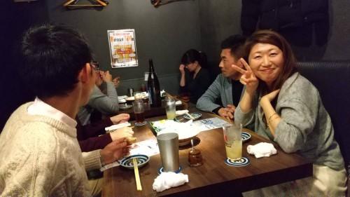 飲み放題を楽しみながら、みんなで和やかにおしゃべりしました